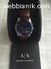 Armani Exchange Men's Stainless Steel Blue Dial Watch