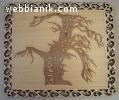 Дървено пано за стена 'Дървото на живота'-13 лв