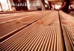 Декинг от дървесина, първокачествен дървен материал
