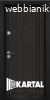 Блиндирана входна врата ТP-003, цвят Черна перла