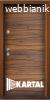 Блиндирана входна врата ТP-005, цвят Савана/ Черна Перла